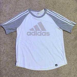 White and Gray Adidas T shirt